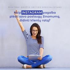 Instagram mokymai grožio profesionalams
