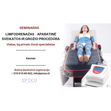 Limfodrenažas - aparatinė sveikatos ir grožio procedūra 12.02 d.