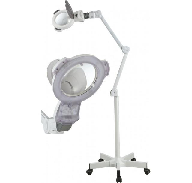 Kosmetologinė LED lempa - lupa 3 dioptrijų (lęšis 17cm)