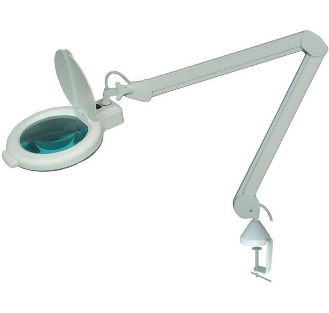 Kosmetologinė LED lempa - lupa 5 dioptrijų (lęšis 17,8cm)