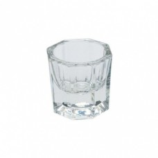 Stiklinis indelis antakių dažams