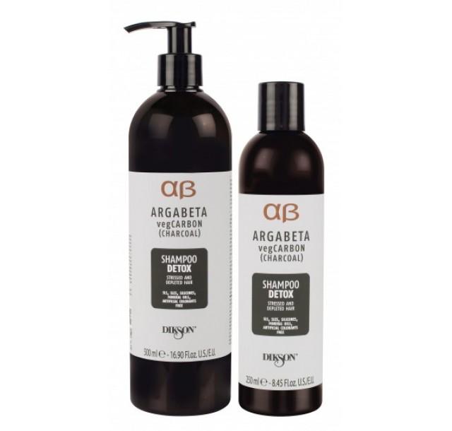 ArgaBeta detoksikuojantis šampūnas su anglimi, 250/500ml