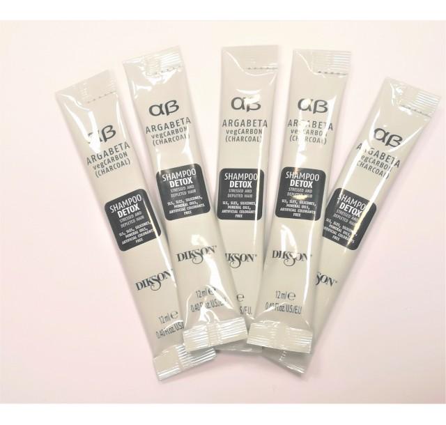 ArgaBeta detoksikuojantis šampūnas su anglimi, 12ml - mėginukas