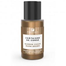 Šviesiai rudų plaukų spalvą palaikantis šampūnas Warm Brown, 50 ml