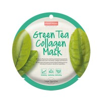 Kolageno kaukė su žaliąja arbata