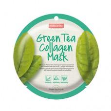 Kolageno kaukė su žaliaja arbata