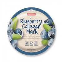 Kolageno kaukė su mėlynių ekstraktu