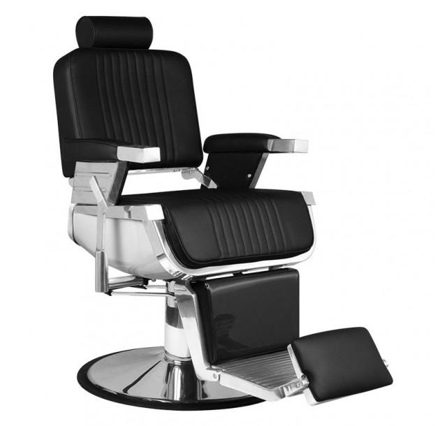 Juoda barzdos kirpėjo kėdė
