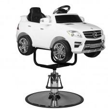 """Kirpyklos vaikiška kėdė - automobilis """"MERC SUV"""""""