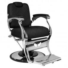 Juoda stilinga barzdos kirpėjo kėdė