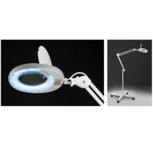 Kosmetologinė LED šviesos lempa - lupa (3 dioptrijos)