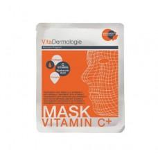 Skaistinanti veido kaukė su vitaminu C ir hialuronu